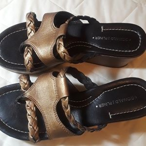 Gold shoes size 6